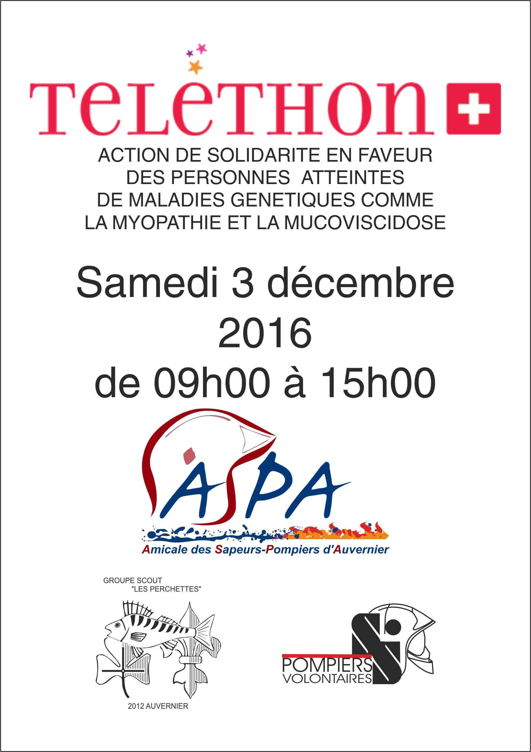 Flyer Téléthon 16 ASPA p0
